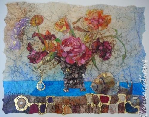 Rose Still-life with Snail